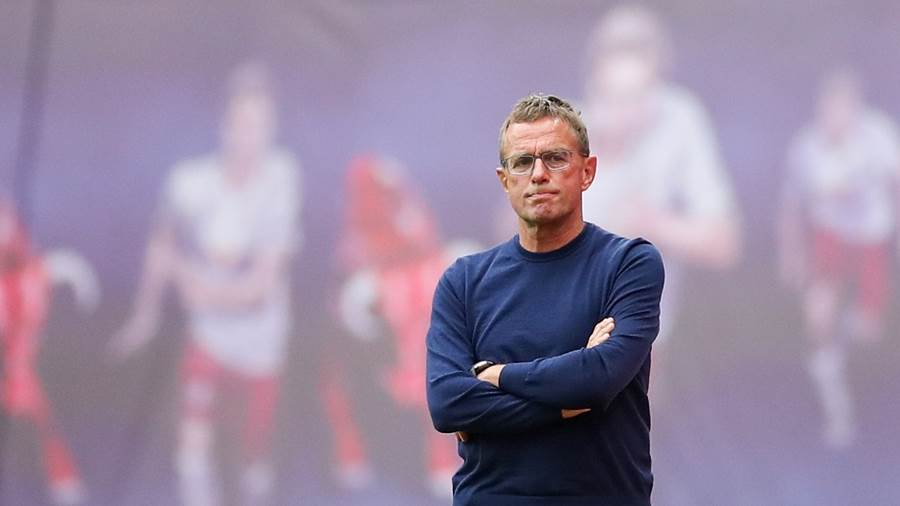 RB Leipzigs Trainer Ralf Rangnick
