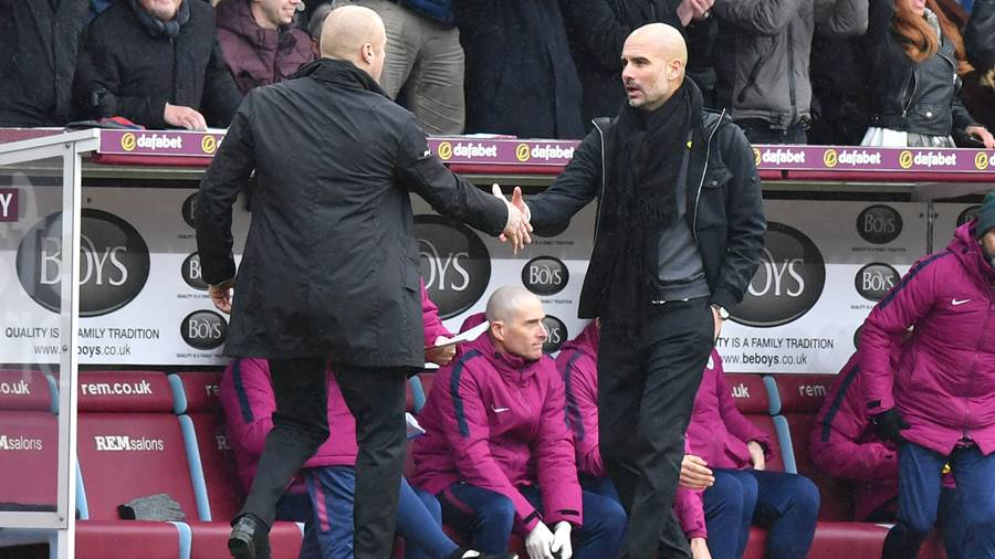 Nur Remis: Pep Guardiola und Manchester City stolpern in Burnley.