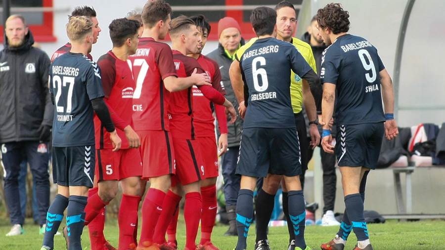 In Bildern: Babelsberg 03 gewinnt Landespokal-Fight bei Optik Rathenow.