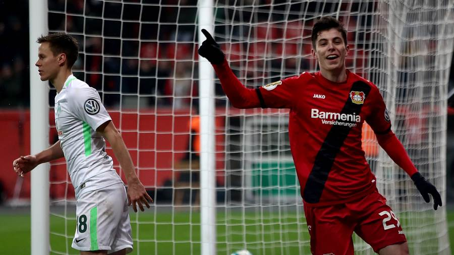 Kai Havertz (RM, Bayer 04 Leverkusen) 73 -> 75