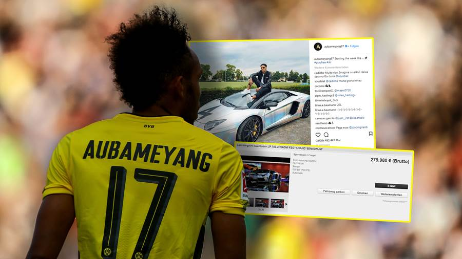 euro bvb star pierre emerick aubameyang verkauft lamborghini. Black Bedroom Furniture Sets. Home Design Ideas