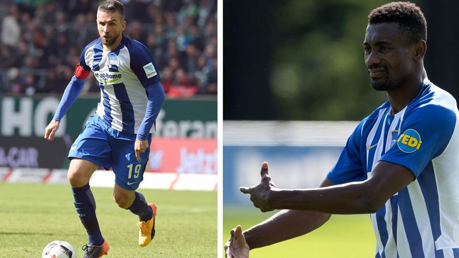 Vedad Ibisevic (links) und Salomon Kalou, Hertha BSC