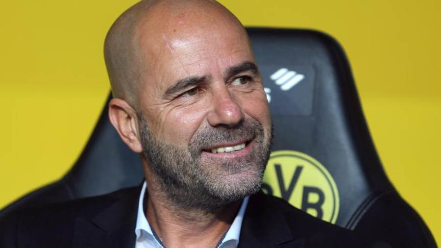 Dortmunds Trainer Peter Bosz.