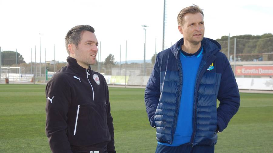 Egestorfs Coach Jan Zimmermann (links) und der neue CFC-Trainer David Bergner.
