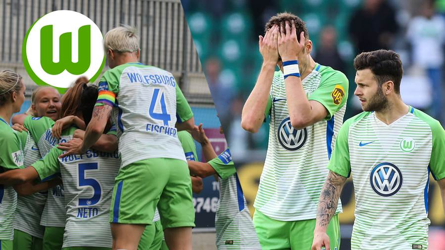 Enttäuscht - Robin Knoche (li.) mit Renato Steffen (VfL Wolfsburg) - 1. Fussball Bundesliga Saison 2017-2018 VfL Wolfsburg vs. Hamburger SV in der Volkswagen Arena in Wolfsburg - Aktion,Deutschland, Fußball, Mann, Maenner,28.04.2018 *** Disappointed Robin Knoche li with Renato Steffen VfL Wolfsburg 1 Football Bundesliga Season 2017 2018 VfL Wolfsburg vs. Hamburger SV at the Volkswagen Arena in Wolfsburg Action Germany Football Mann Manner 28 04 2018