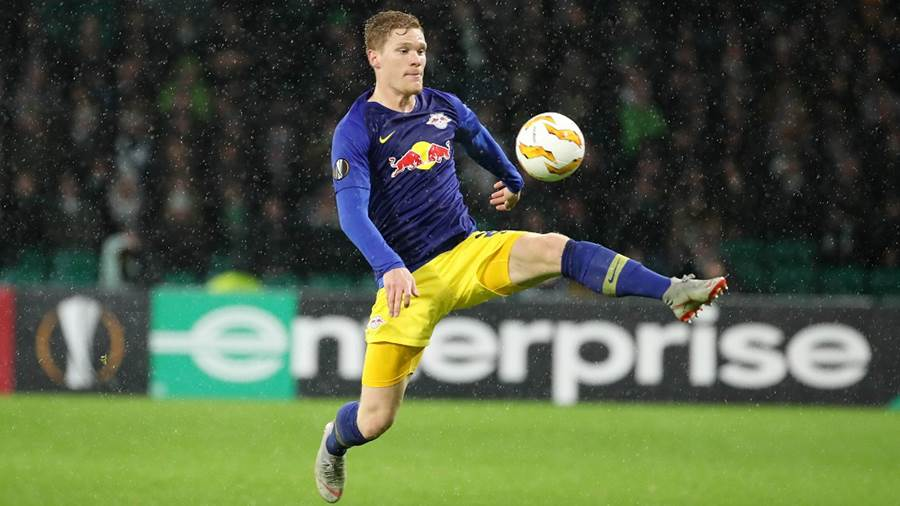 GLASGOW,SCOTLAND,08.NOV.18 - SOCCER - UEFA Europa League, group stage, Celtic FC Glasgow vs RasenBallsport Leipzig. Image shows Marcel Halstenberg (RB Leipzig). Photo: GEPA pictures/ Sven Sonntag - For editorial use only. Image is free of charge.