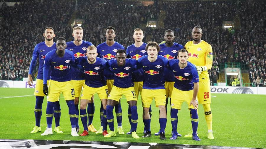 GLASGOW,SCOTLAND,08.NOV.18 - SOCCER - UEFA Europa League, group stage, Celtic FC Glasgow vs RasenBallsport Leipzig. Image shows the team of RB Leipzig. Photo: GEPA pictures/ Sven Sonntag - For editorial use only. Image is free of charge.