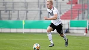 HALLE, SAXONY-ANHALT - SEPTEMBER 05:  Lennart Czyborra of Germany during the U20 international friendly at Erdgas Sportpark on September 05, 2019 in Halle, Germany.  (Photo by Karina Hessland/Getty Images for DFB)