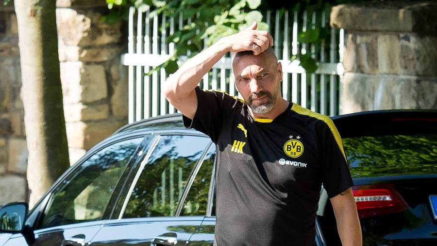 Trainingsstart in Dortmund: Co-Trainer Hendrie Krüzen.