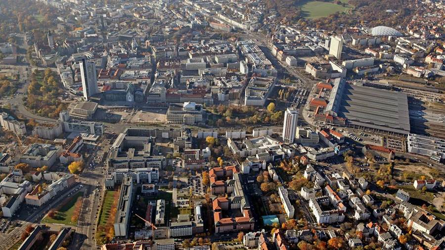 View over the city of Leipzig