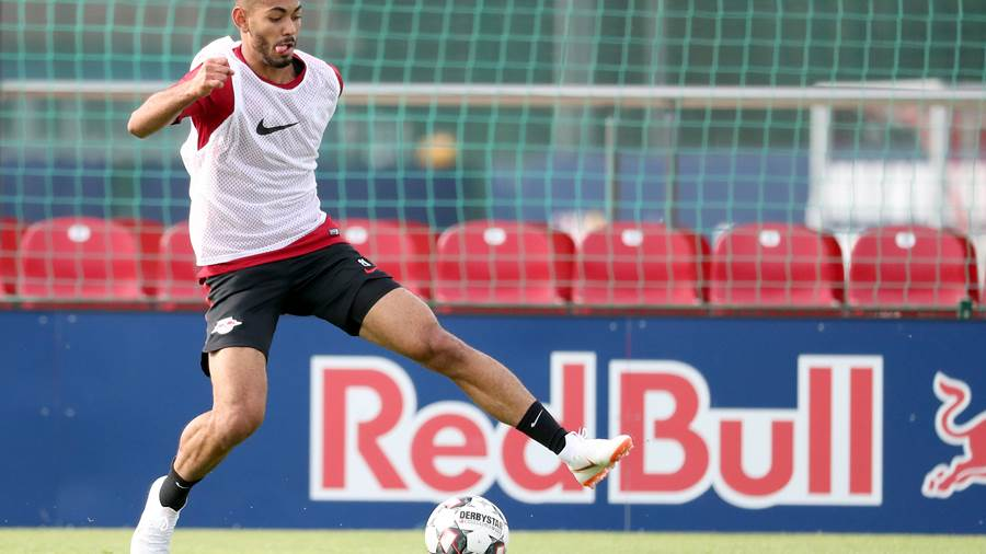 LEIPZIG,GERMANY,09.JUL.18 - SOCCER - 1. DFL, 1. Deutsche Bundesliga, RB Leipzig, training start. Image shows Matheus Cunha (RB Leipzig). Photo: GEPA pictures/ Kerstin D litzsch - For editorial use only. Image is free of charge.