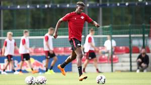 LEIPZIG,GERMANY,09.JUL.18 - SOCCER - 1. DFL, 1. Deutsche Bundesliga, RB Leipzig, training start. Image shows Nordi Mukiele (RB Leipzig). Photo: GEPA pictures/ Roger Petzsche - For editorial use only. Image is free of charge.