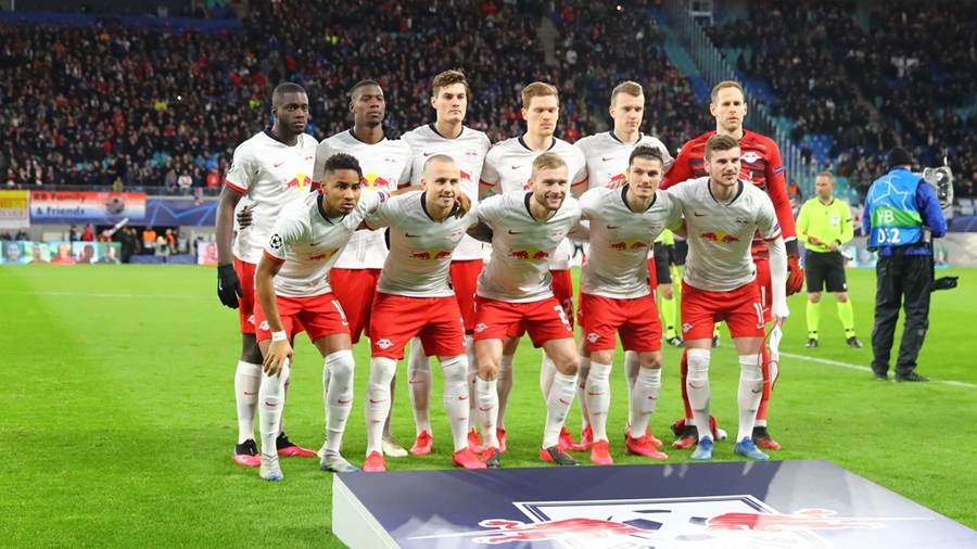 LEIPZIG,GERMANY,10.MAR.20 - SOCCER - UEFA Champions League, round of 16, RasenBallsport Leipzig vs Tottenham Hotspur. Image shows the team of RB Leipzig. Photo: GEPA pictures/ Roger Petzsche - For editorial use only. Image is free of charge.