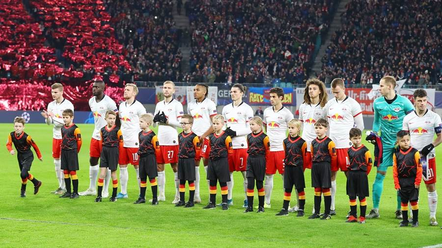 LEIPZIG,GERMANY,27.NOV.19 - SOCCER - UEFA Champions League, group stage, RasenBallsport Leipzig vs Benfica Lissabon. Image shows . Photo: GEPA pictures/ Roger Petzsche - For editorial use only. Image is free of charge.