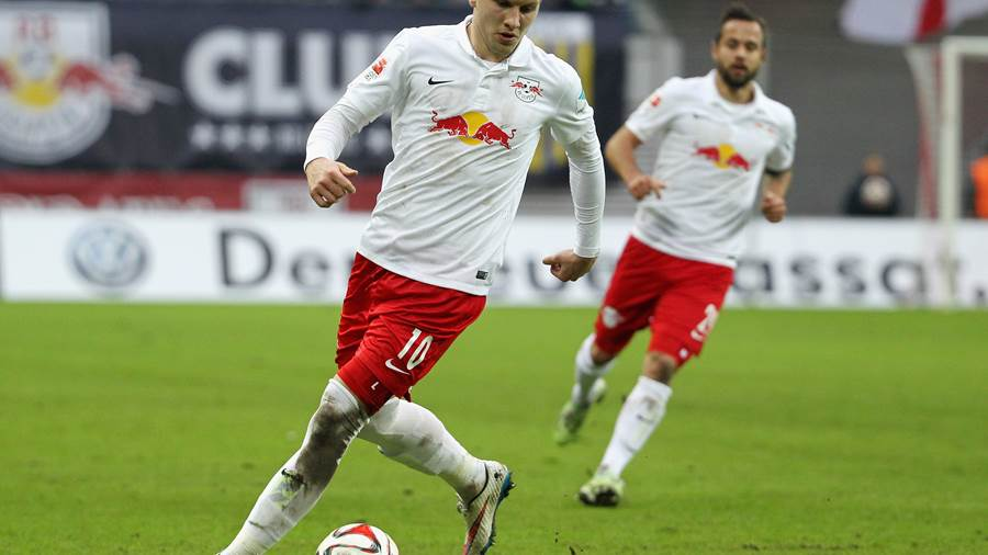 LEIPZIG, GERMANY - DECEMBER 07:  Ante Rebic of Leipzig during the 2.Liga match between RasenBallsport Leipzig and FC Ingolstadt 04 at Red Bull Arena on Dezember 07, 2014 in Leipzig, Germany.  (Photo by Karina Hessland/Bongarts/Getty Images)
