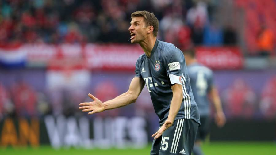 Bayern Münches Thomas Müller...