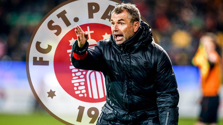 Mouscron s head coach Bernd Hollerbach pictured during a soccer match between KV Oostende and RE Mouscron, Saturday 09 November 2019 in Oostende, on day 14 of the Jupiler Pro League Belgian soccer championship season 2019-2020. BRUNOxFAHY PUBLICATIONxINxGERxSUIxAUTxONLY x05703483x