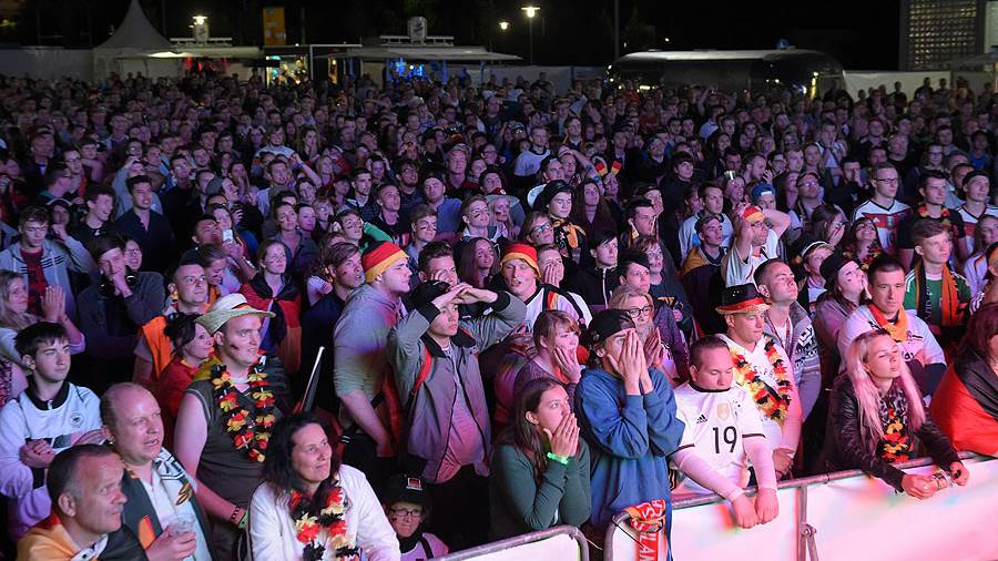 Public Viewing in Leipzig