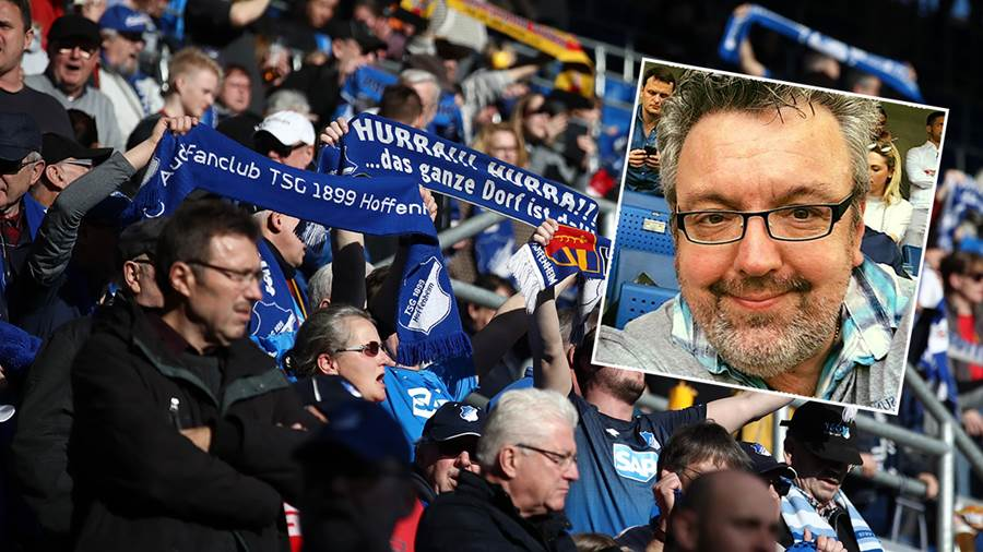 SINSHEIM, GERMANY - FEBRUARY 16:  Fans hold up scarfs prior to the Bundesliga match between TSG 1899 Hoffenheim and Hannover 96 at PreZero-Arena on February 16, 2019 in Sinsheim, Germany.  (Photo by Alex Grimm/Bongarts/Getty Images)