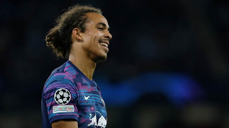 Soccer Football - Champions League - Group A - Manchester City v RB Leipzig - Etihad Stadium, Manchester, Britain - September 15, 2021 RB Leipzig's Yussuf Poulsen reacts Action Images via Reuters/Craig Brough