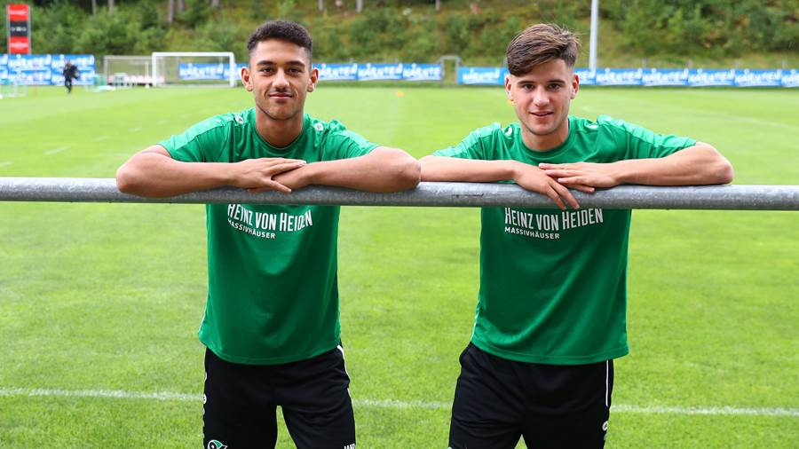 Die Youngster Youssef Emghames (links) und Tom Baller.