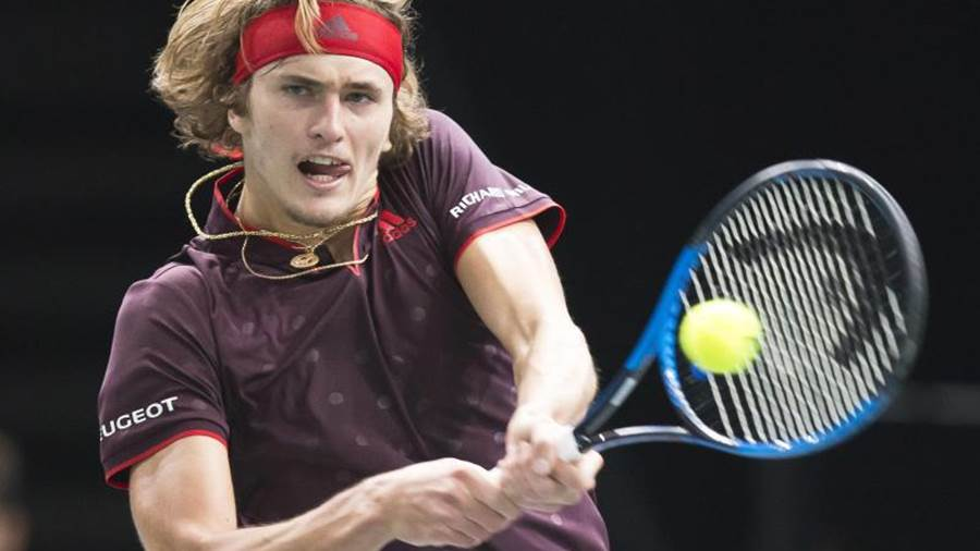 Alexander Zverev in Aktion.