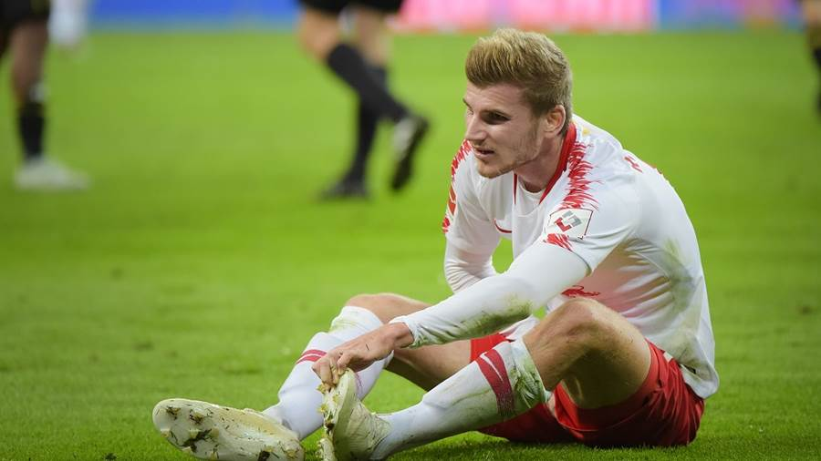 Timo Werner (RB 11) beim Spiel RasenBallsport Leipzig (RB) vs VfB Stuttgart, Fussball, 1.Liga, 26.09.2018
