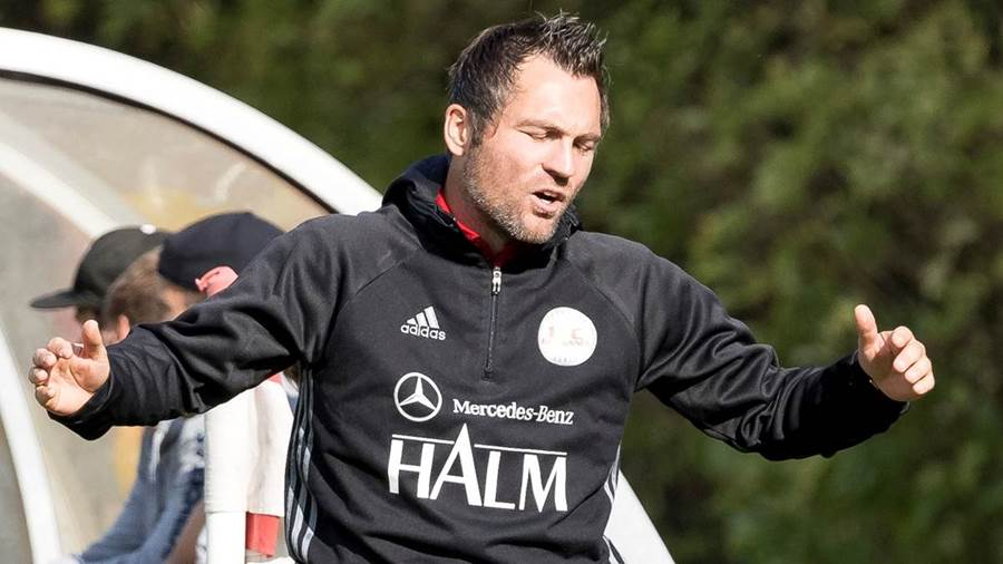 Germanen-Trainer Jan Zimmermann ärgert sich.